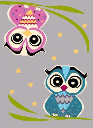 Dywan Agnella Funky Owl Szary