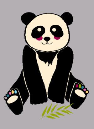 Dywan Agnella Funky Panda Szary